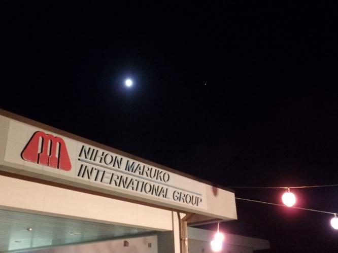 祭りのあと、月